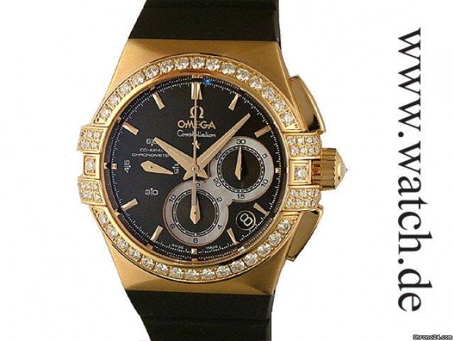 Omega Constellation Double Eagle Co Axial Chrono Roségold Diamond 35mm