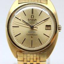Omega Constellation Chronometer Brick Bracelet 18KYG Automatic