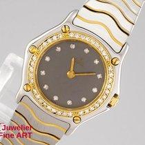 "Ebel ""Classic Wave"" Stahl/750 Gelbgold - Diamantlünett..."