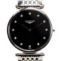 Longines La Grande Stainless Steel Black Quartz L4.709.4.58.6