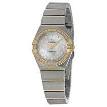 Omega Constellation White Mother-of-Pearl Diamond Dial Ladies...