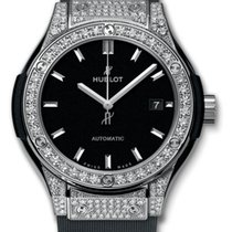 Hublot : 33mm Classic Fusion Titanium Pave Watch