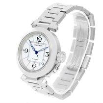 Cartier Pasha C Medium Automatic White Dial Date Watch W31074m7