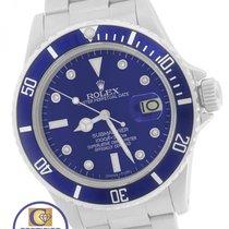 Rolex Submariner Date Blue Diamond 16800 Stainless Steel Dive