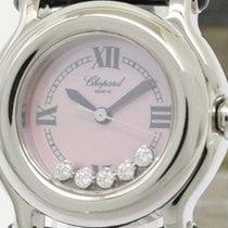 Chopard Polished Chopard Happy Sport Diamond Pink Mop Ladies...