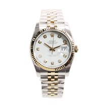Rolex Datejust 18k Rose Gold And Steel White Automatic 116231GWT