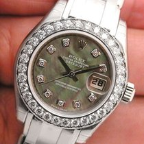 Rolex Masterpiece Black Mother Of Pearl Diamond Dial 80299