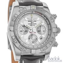 Breitling Chronomat 44mm Silver Dial Chronograph Watch...