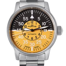 Fortis ..Aviatis Flieger Cockpit Yellow Date Automatic NEW...