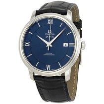 Omega DeVille Prestige Blue Dial Automatic Mens Watch 424.13.4...