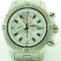 Breitling Super Avenger Chronograph A13370 White Dial Automati...