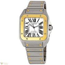 Cartier Santos 100 Medium Two Tone Stainless Steel Unisex Watch