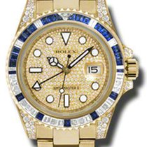Rolex GMT-Master II Yellow Gold 116758SA pave