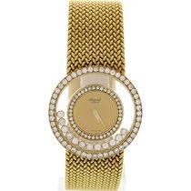 Chopard Ladies Chopard Happy Diamond 18K Yellow Gold Watch...