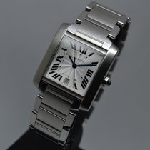 Cartier Tank Francaise XL Automatic Date Steel with Service...