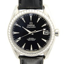 歐米茄 (Omega) Seamaster Stainless Steel With Diamonds Black...