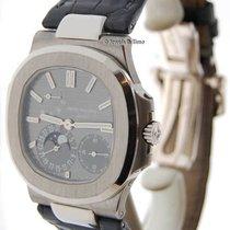 Patek Philippe Nautilus 18k White Gold Mens Automatic Watch...