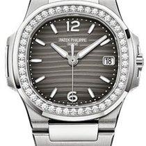 Patek Philippe 7010/1G-012 Nautilus Grey Wave Diamond Bezel...