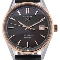 TAG Heuer Carrera Automatic 39 Leather Strap Grey Dial Calibre 5