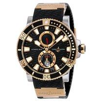 Ulysse Nardin Maxi Marine Diver Black Dial 18K Rose Gold Mens...