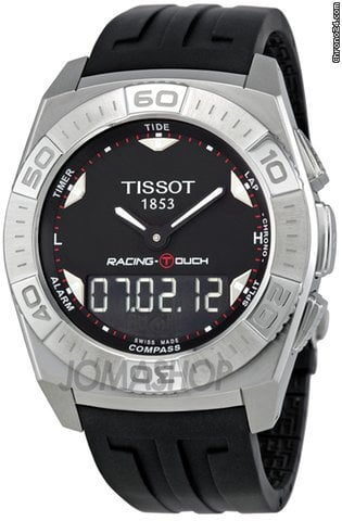 Tissot Racing-Touch Black Dial Black Chronograph Rubber Strap Mens Watch T0025201705100
