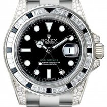 Rolex GMT Master II 116759SANR 116759 Black Sapphire Diamond...