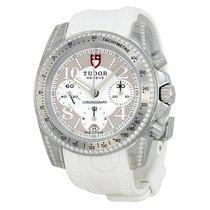 Tudor Chronograph Dial Diamond White Rubber Ladies Watch