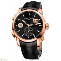 Ulysse Nardin Dual Time Manufacture Rose Gold 18K Full Black...