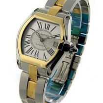 Cartier W62031Y4 Mens Roadster - 2-Tone with Silver Dial