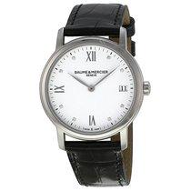 Baume & Mercier Classima steel leather watch quartz round...