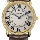 Cartier Ronde Louis 18K Yellow Gold Diamond Men's Watch...