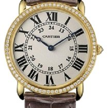 Cartier Ronde Louis 18K Yellow Gold Diamond Watch WR000451