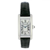 Cartier Ladies PreOwned 18ct White Gold Tank Americaine Strap...