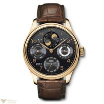IWC Portuguese Perpetual Calendar Red Gold Brown 18K Men`s Watch