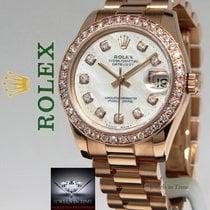 Rolex Datejust President 18k Rose Gold MOP Diamond Ladies...