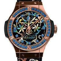 Hublot Broderie Sugar Skull 18k Red Gold Automatic Watch