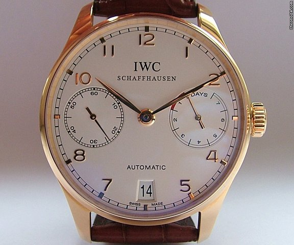 IWC Portugieser 7 Days Power Reserve - 18 K Rose Gold