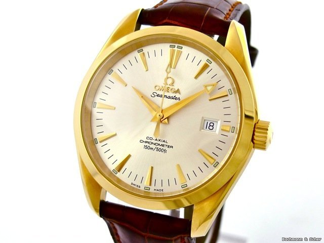 Omega Seamaster Co-Axial, 18k Yellow Gold