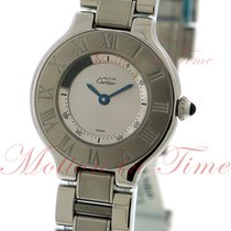 Cartier Must 21 Small, Silver Dial - Stainless Steel with on...