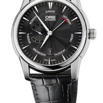 Oris Artelier Small Second Pointer Day Black Leathe Bracelet