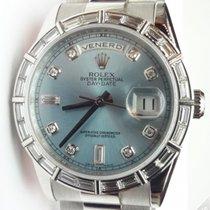 Rolex Day Date President Platinum Diamonds Marker and Bezel...