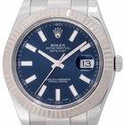 Rolex Datejust II : 116334 blue dial on heavy Oyster bracelet...
