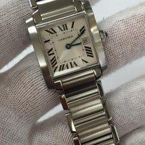 Cartier Tank Francais Stainless Steel W51011q3 Quartz W/ Date