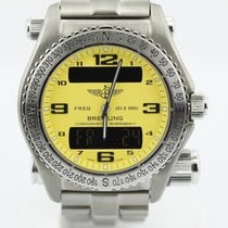Breitling Emergency Titanium Cobra Yellow On Bracelet Complete...