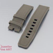 IWC Uhrenarmband - Textil-Lederband für MIRAMAR - für Dornschlie