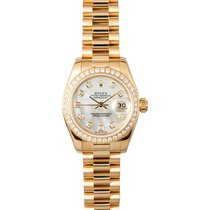Rolex Datejust Lady President 26mm 18K Yellow Gold MOP Box/Pap