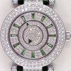 Franck Muller Double Mystery - Pave Diamonds with Emera...
