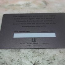 Alfred Dunhill vintage warranty card newoldstock