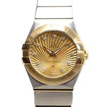 Omega Constellation 18k Gold Steel Gold Quartz 123.20.24.60.58...