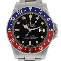 Rolex 1675 Stainless Steel GMT Master Mens Watch
